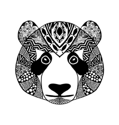Zentangle stylized panda Sketch for tattoo or t vector image vector image