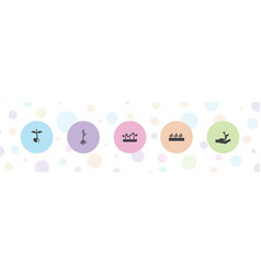 5 sprout icons vector