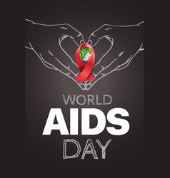 aids awareness symbol world day concept vector image