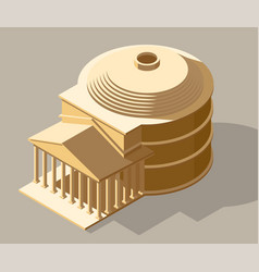 Ancient isometric vector