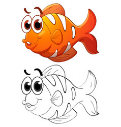 Animal outline for clownfish vector