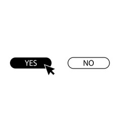 arrow with button yes and no vector image