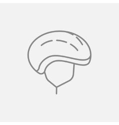 Bicycle helmet line icon vector image