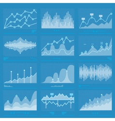 Big Data Statistics Background vector image