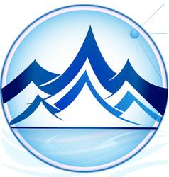 blue mountains logo icon template vector image