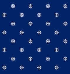 boats wheel on blue background seamless pattern vector image