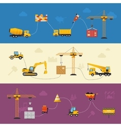 Building Process Banners vector image
