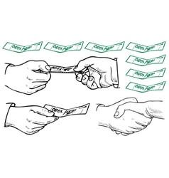 Business hands vector