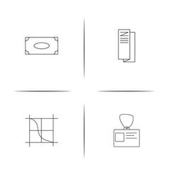 Business linear simple icon setoutline icons vector