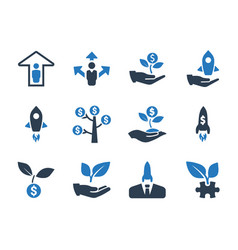 business startup icons vector image