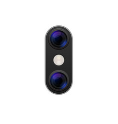 camera phone lens mobile 3d icon smart vector image