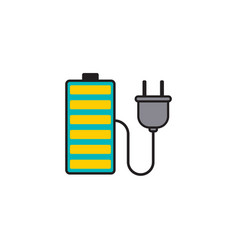 charging battery flat icon sign symbol vector image