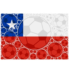 Chile soccer balls vector image