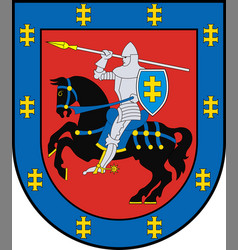 Coat of arms of vilnius county in lithuania vector