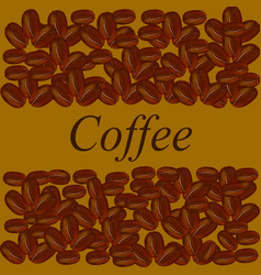 Coffee beans on brown background vector