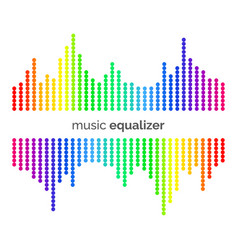 colorful music equalizer vector image