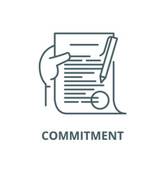 Commitment line icon linear concept vector