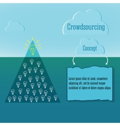 Crowdsourcing concept simple infographics vector