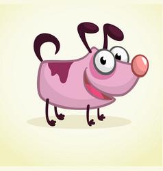 cute cartoon pink dog vector image