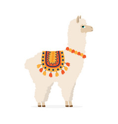 cute drawn llama or alpaca vector image