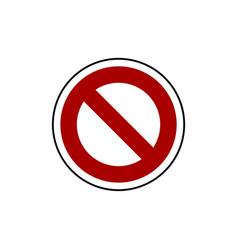 Do not enter sign template vector