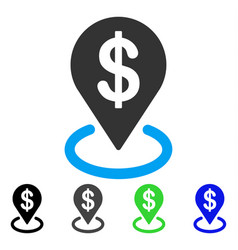 Dollar placement flat icon vector