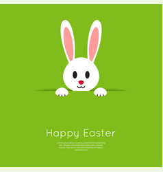 easter bunny in hole vector image