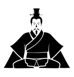 emperor of china icon black icon flat vector image