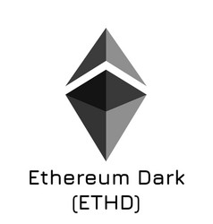 Ethereum dark ethd crypto vector