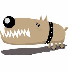 evil dog vector image
