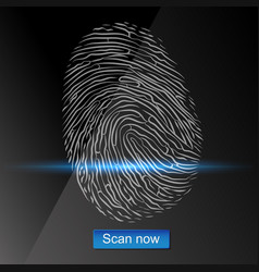 fingerprint scan design vector image
