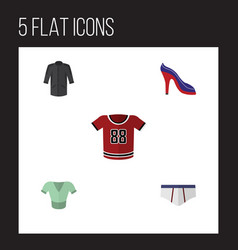 Flat icon garment set of uniform underclothes vector