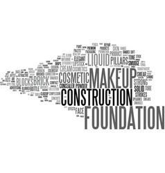 Foundation word cloud concept vector