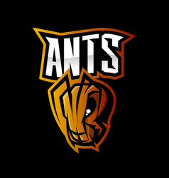Furious ant sport logo concept isolated on vector