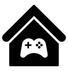 Game Center Building Flat Icon vector