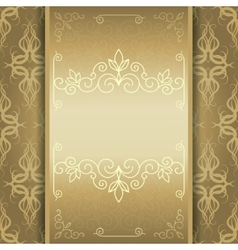 Golden card invitation or menu vector