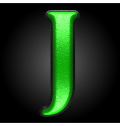 Green plastic figure j vector