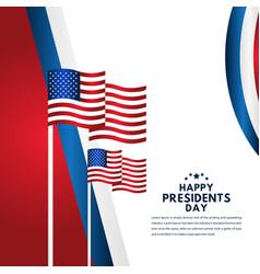 Happy presidents day celebration template design vector