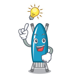 have an idea iron board mascot cartoon vector image