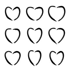 Heart icons isolated on white background vector