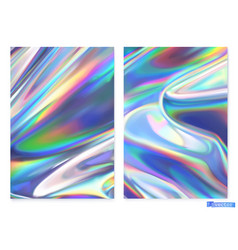Holographic film abstract background vector