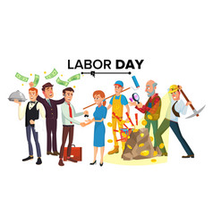 international labor day people group vector image