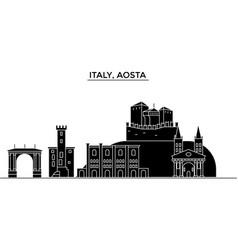 Italy aosta architecture city skyline vector