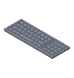 Keyboard plastic icon isometric style vector