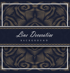 line decorative pattern background vector image