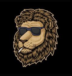 lion head smoke vector image