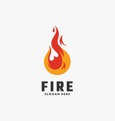 logo fire colorful style vector image