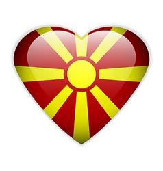 Macedonia flag button vector