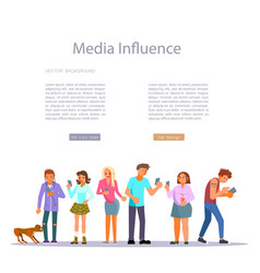 Media influence concept vector