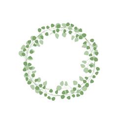 minimalistic greenery eucalypthus wreath vector image